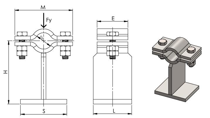 Stopa pozioma mała typ AKER-75/8.61